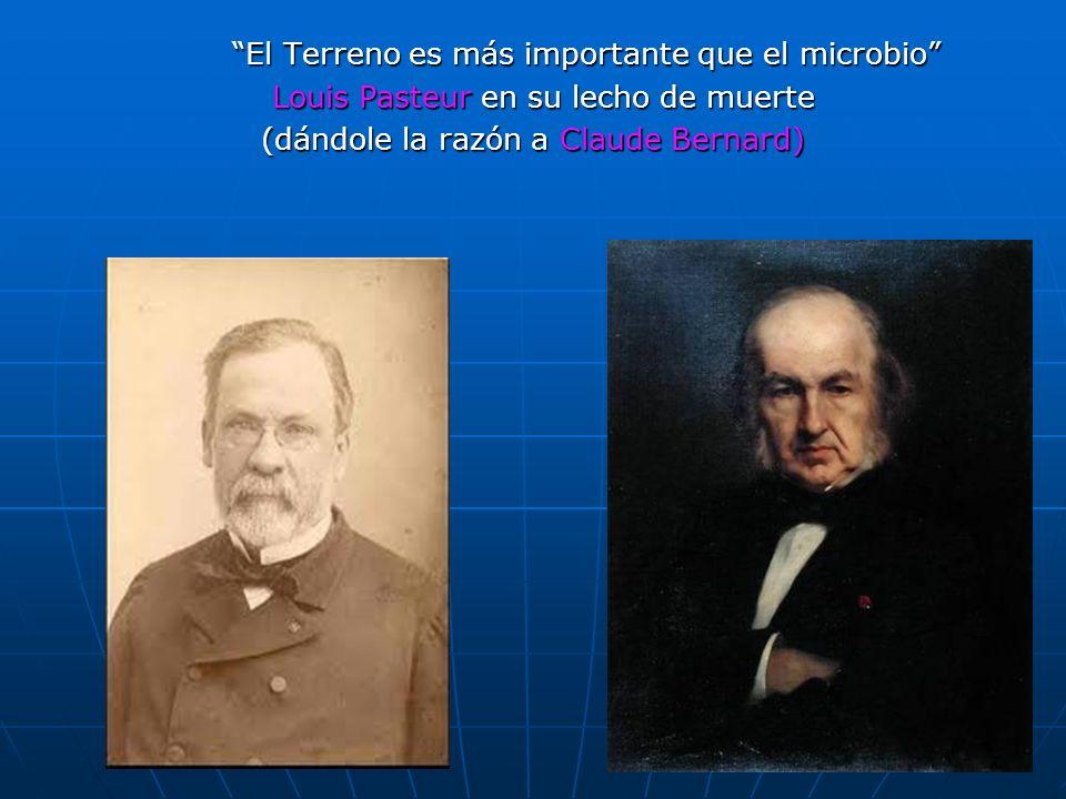 59 El Terreno es más importante que el microbio Louis Pasteur en su lecho de muerte Louis Pasteur en su lecho de muerte (dándole la razón a Claude Ber