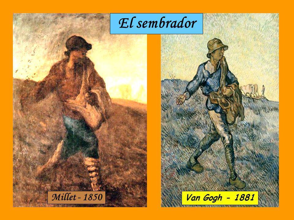 Forrajera Millet - 1854 Van Gogh - 1889