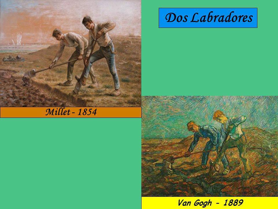 Noche Estrellada Millet - 1858 Van Gogh - 1889