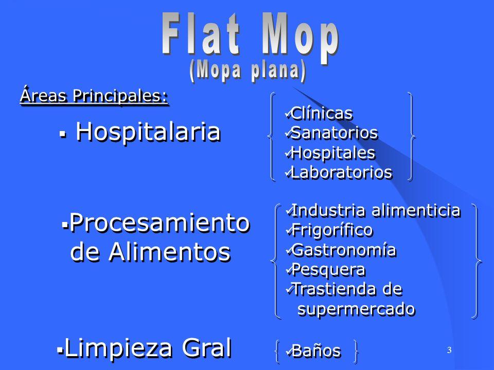 3 Áreas Principales: Hospitalaria Clínicas Sanatorios Hospitales Laboratorios Clínicas Sanatorios Hospitales Laboratorios Procesamiento de Alimentos P