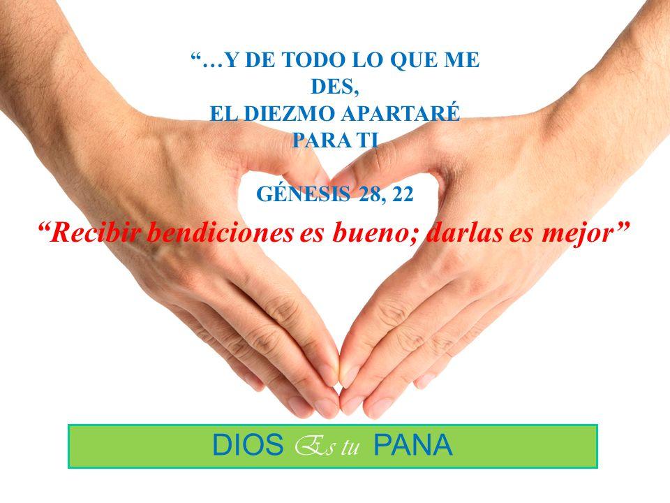 CAMPAÑA DEL DIEZMO 2010 D I O S Es tu Pana Recibir bendiciones es bueno; darlas es mejor