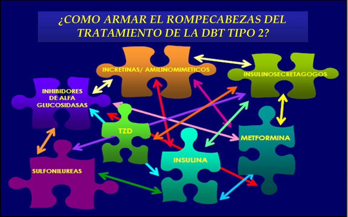 ¿COMO ARMAR EL ROMPECABEZAS DEL TRATAMIENTO DE LA DBT TIPO 2? ¿COMO ARMAR EL ROMPECABEZAS DEL TRATAMIENTO DE LA DBT TIPO 2?