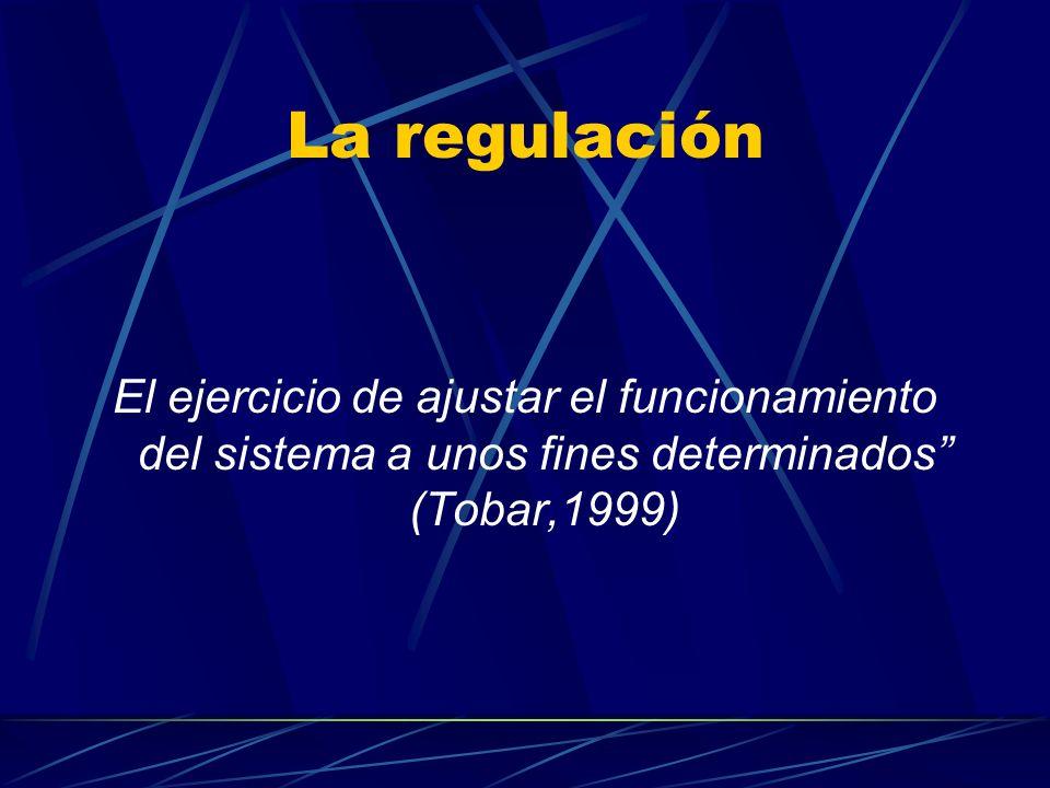 La regulación Compete a los tres poderes del Estado Poder Ejecutivo Poder Legislativo Poder Judicial