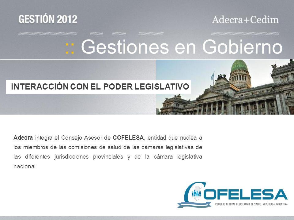 :: Gestiones en Gobierno Adecra integra el Consejo Asesor de COFELESA, entidad que nuclea a los miembros de las comisiones de salud de las cámaras leg
