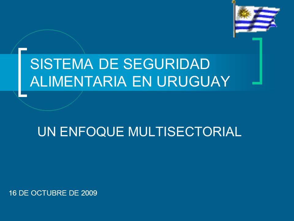 SISTEMA DE SEGURIDAD ALIMENTARIA EN URUGUAY UN ENFOQUE MULTISECTORIAL 16 DE OCTUBRE DE 2009