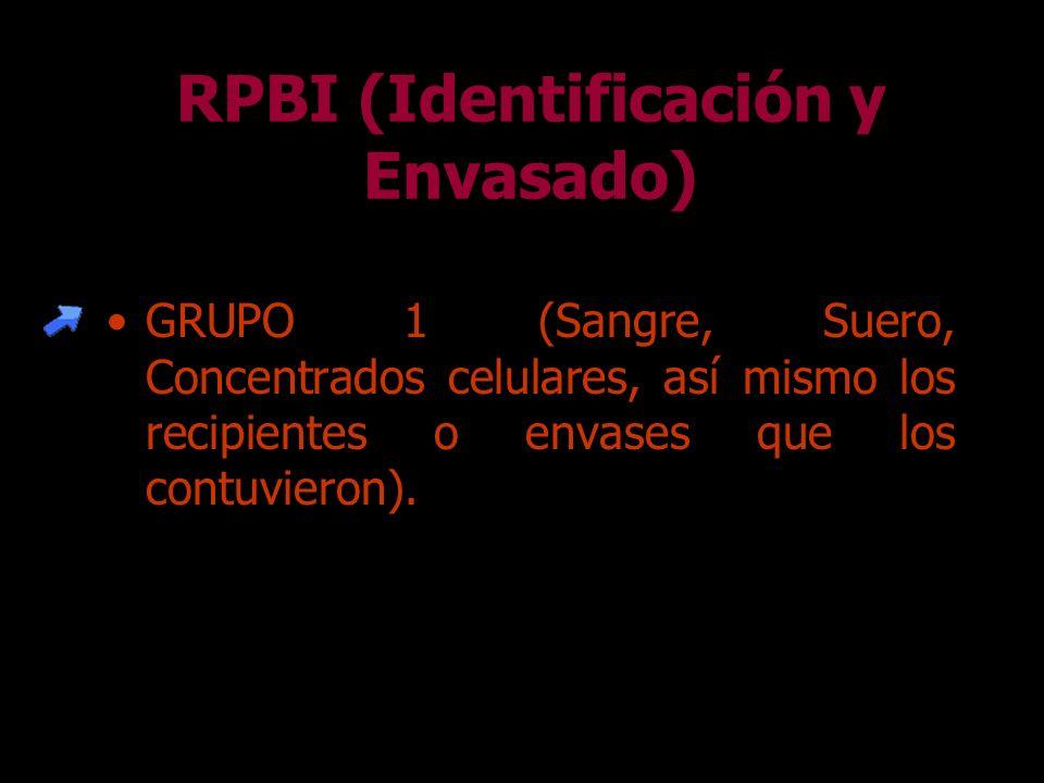 Para el envasado y recolección de los RPBI deben emplearse única y exclusivamente: –Contenedor Hermético Cerrado ROJO. –Contenedor Hermético Cerrado A