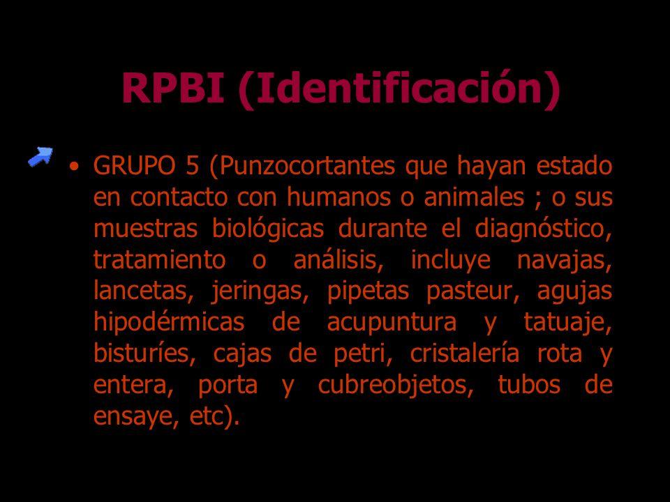 GRUPO 4 (Residuos patológicos tales como : Extremidades, miembros órganos, téjidos órganos, partes y fluídos corporales que se remueven durante la nec