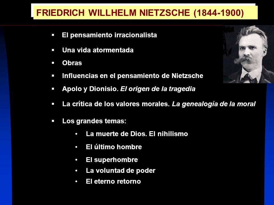 EL PENSAMIENTO IRRACIONALISTA El idealismo de Hegel sostenía: Todo lo racional es real.