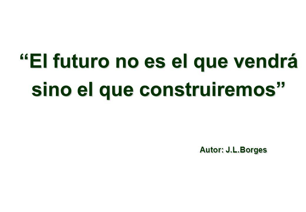 El futuro no es el que vendrá sino el que construiremos Autor: J.L.Borges Autor: J.L.Borges