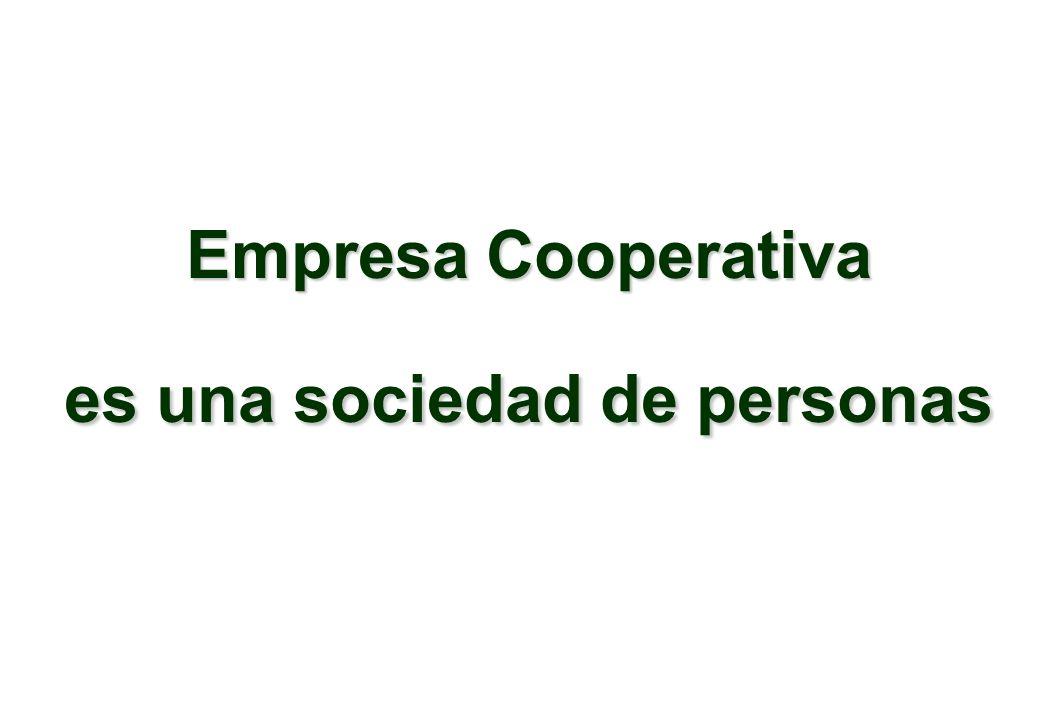 Empresa Cooperativa es una sociedad de personas
