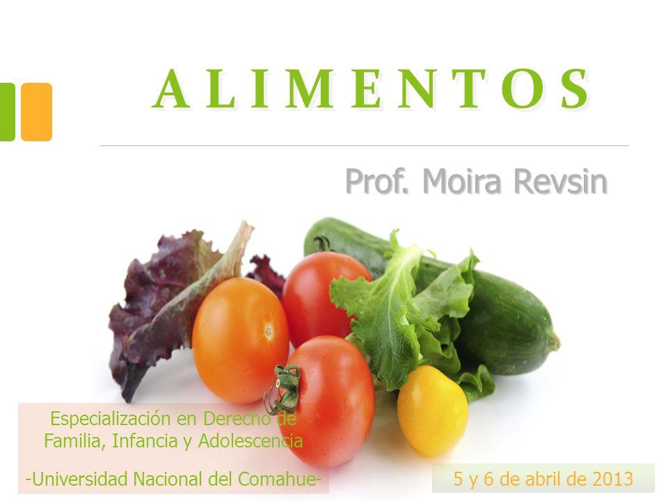 A L I M E N T O S Prof. Moira Revsin Especialización en Derecho de Familia, Infancia y Adolescencia -Universidad Nacional del Comahue- 5 y 6 de abril