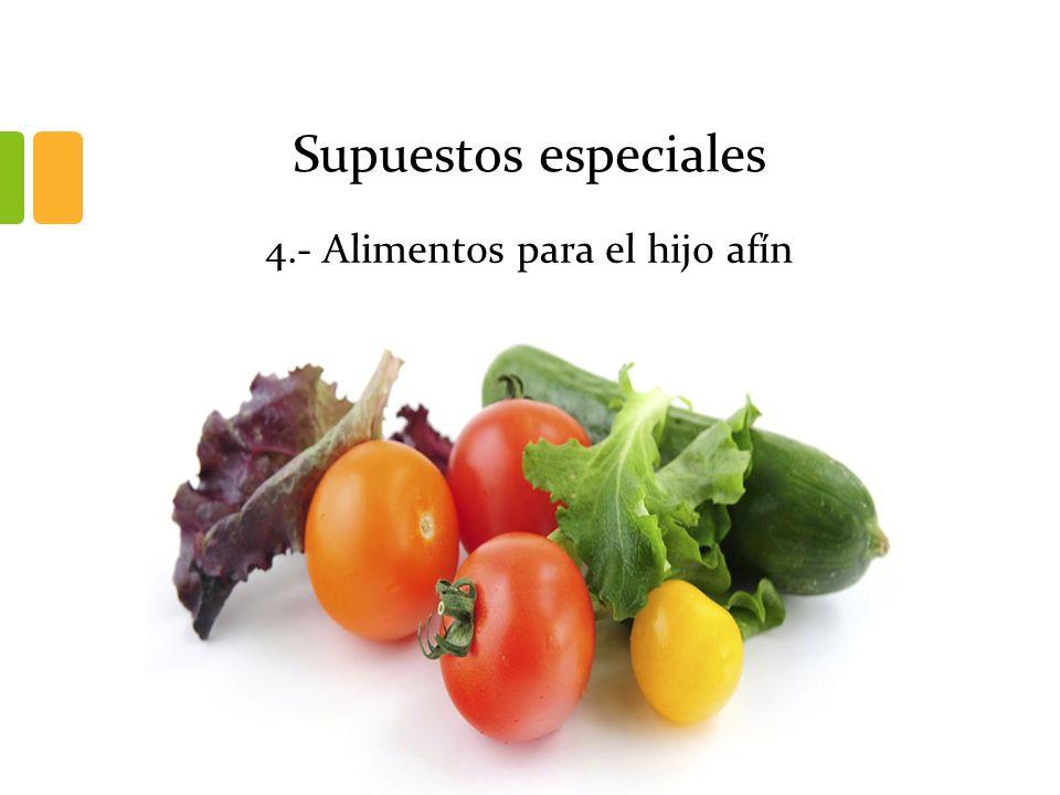Supuestos especiales 4.- Alimentos para el hijo afín