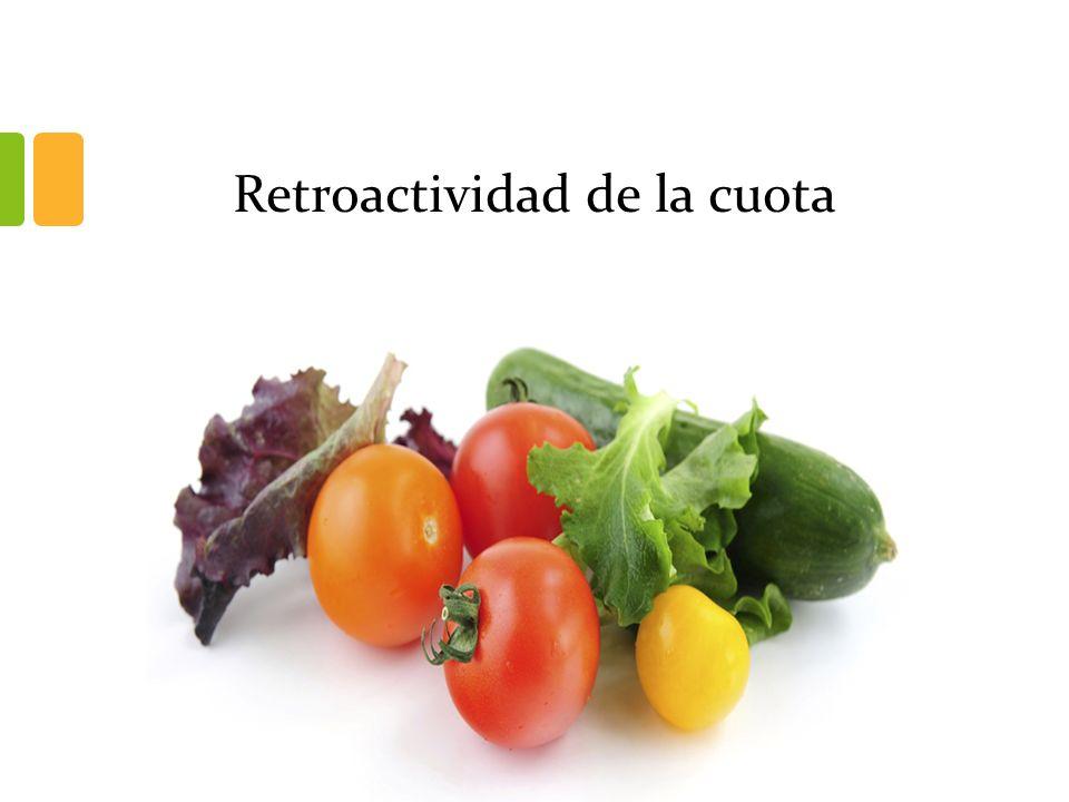 Retroactividad de la cuota