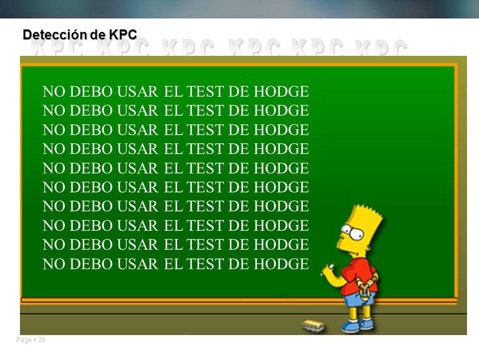 Page 29 Detección de KPC NO DEBO USAR EL TEST DE HODGE