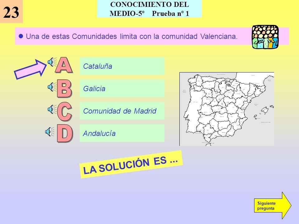 En el Estado Español existen... 22 14 Comunidades Autónomas 15 Comunidades Autónomas 17 Comunidades Autónomas 20 Comunidades Autónomas LA SOLUCIÓN ES.