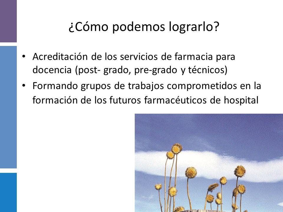 CONCLUSIONES Reflexionar sobre cual es el Perfil del Farmacéutico que el Sistema Sanitario Argentino necesita. Elaborar un programa que contribuya a M