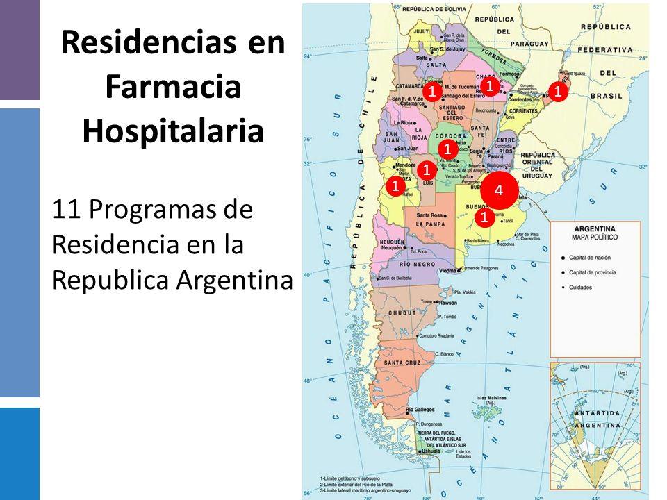 Antecedentes Históricos: 1981-Puesta en marcha ola Residencia en Farmacia Hospitalaria en el Hospital San Juan de Dios. La Plata. 1985- Hospital San R