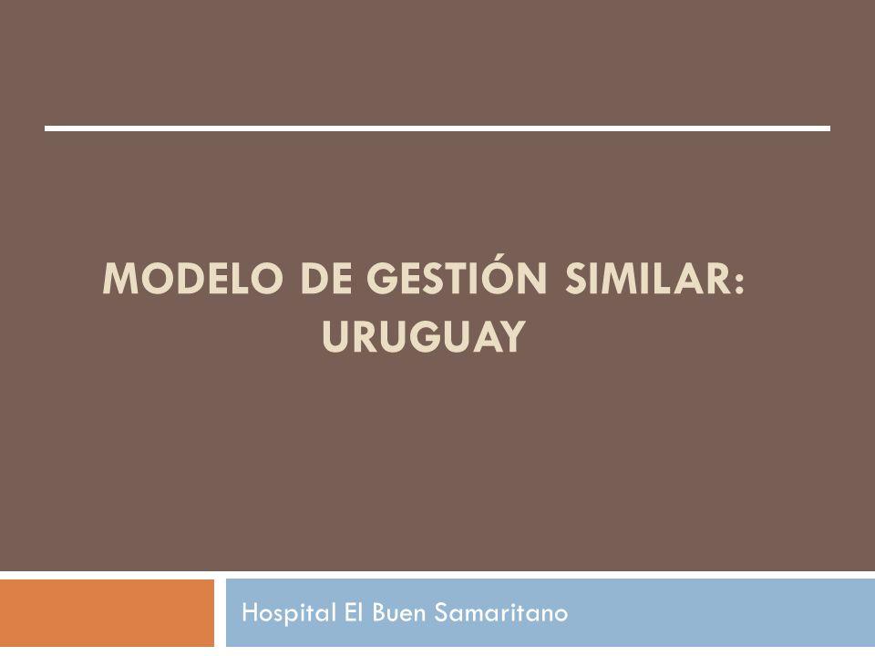 MODELO DE GESTIÓN SIMILAR: URUGUAY Hospital El Buen Samaritano