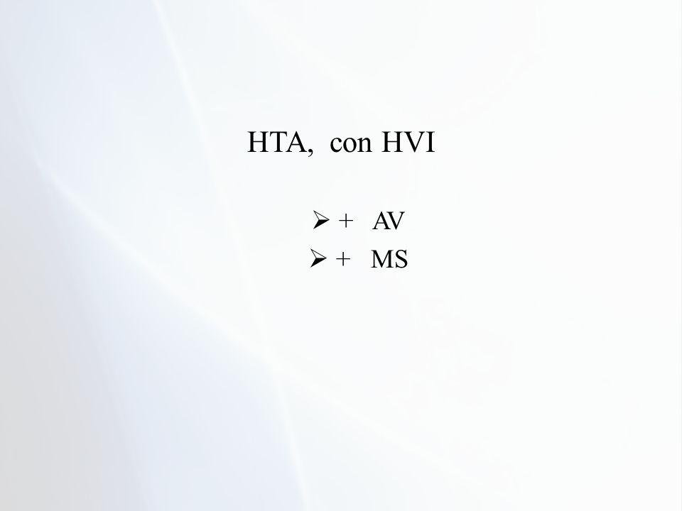 HTA, con HVI + AV + MS