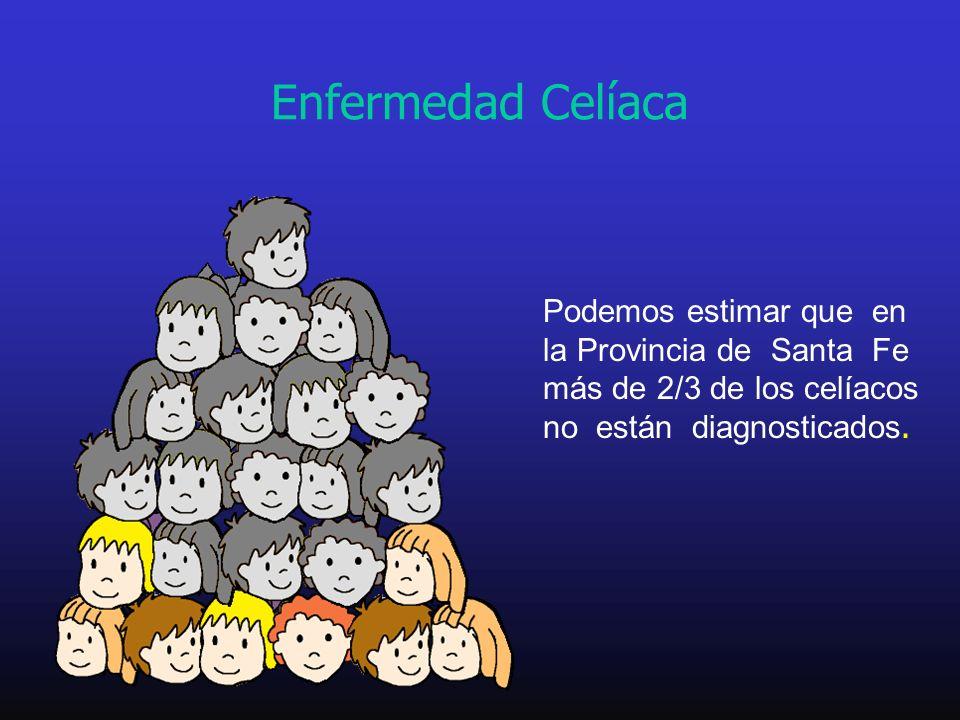 Podemos estimar que en la Provincia de Santa Fe más de 2/3 de los celíacos no están diagnosticados. Enfermedad Celíaca
