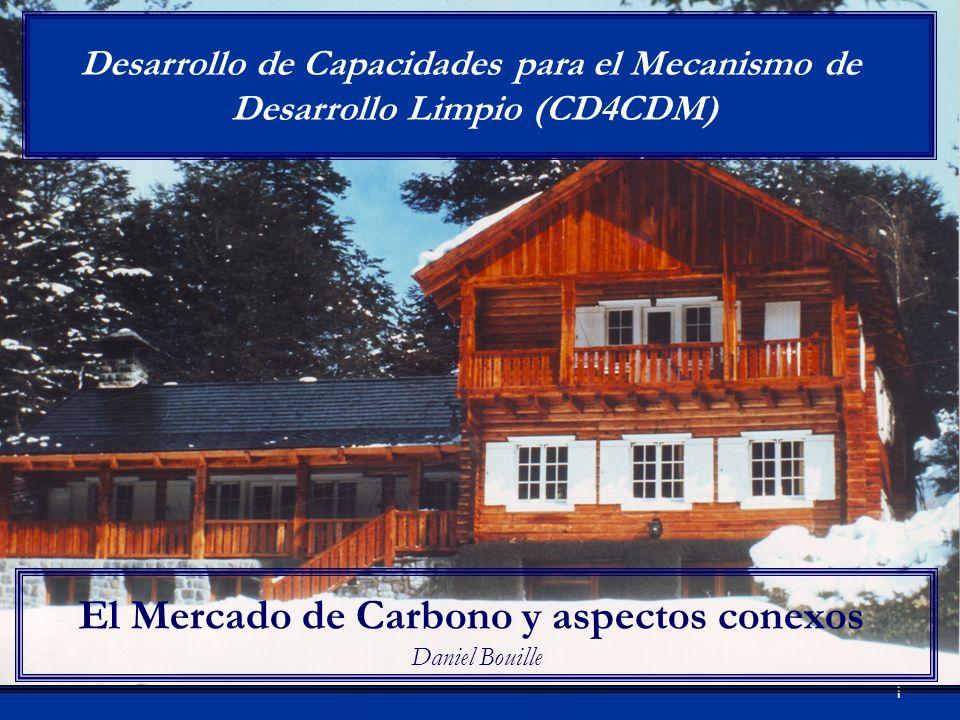 1 El Mercado de Carbono y aspectos conexos Daniel Bouille Desarrollo de Capacidades para el Mecanismo de Desarrollo Limpio (CD4CDM)