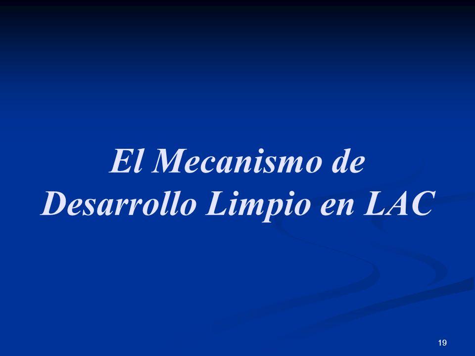 19 El Mecanismo de Desarrollo Limpio en LAC