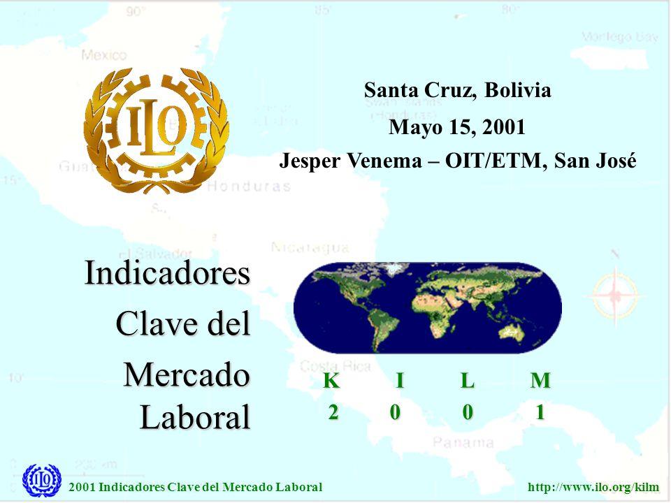 2001 Indicadores Clave del Mercado Laboralhttp://www.ilo.org/kilm Indicadores Clave del Mercado Laboral 2 0 0 1 2 0 0 1 K I L M K I L M Santa Cruz, Bo