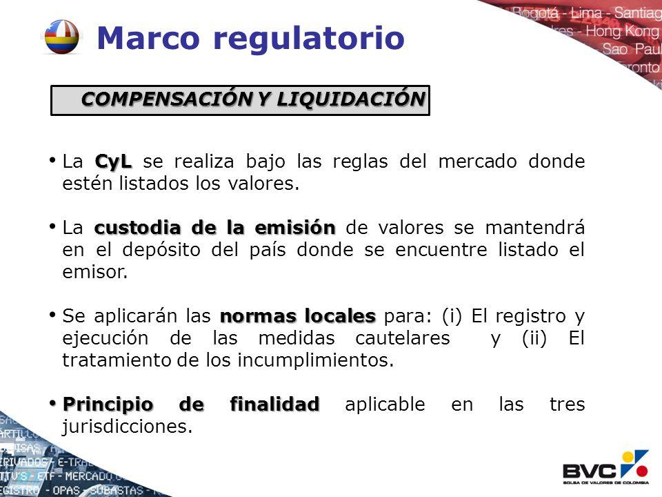 Marco regulatorio CyL La CyL se realiza bajo las reglas del mercado donde estén listados los valores. custodia de la emisión La custodia de la emisión