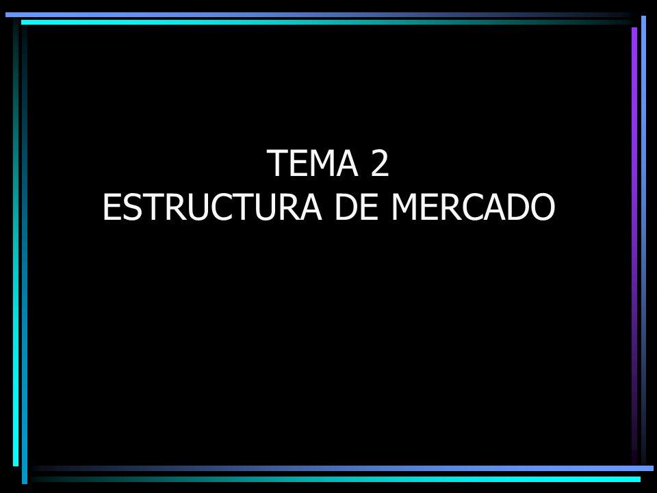 TEMA 2 ESTRUCTURA DE MERCADO