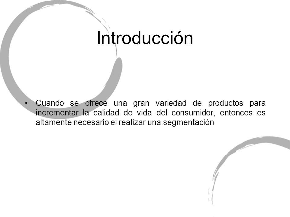Introducción Cuando se ofrece una gran variedad de productos para incrementar la calidad de vida del consumidor, entonces es altamente necesario el re