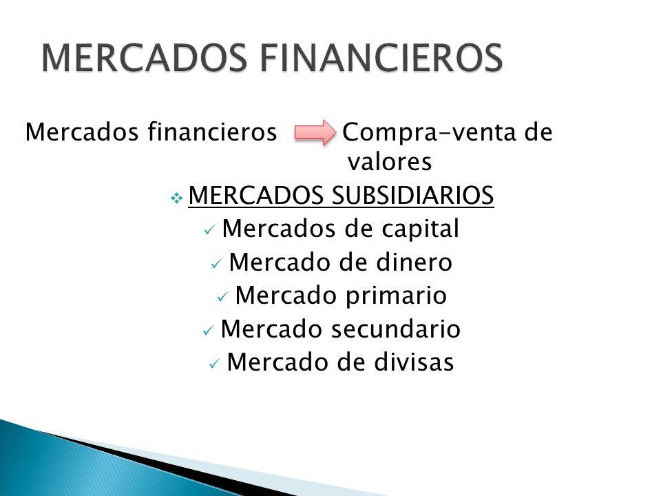 MERCADOS DE DEUDA derecho de flujos futuros de fondos Tiene menos volatilidad que las acciones.