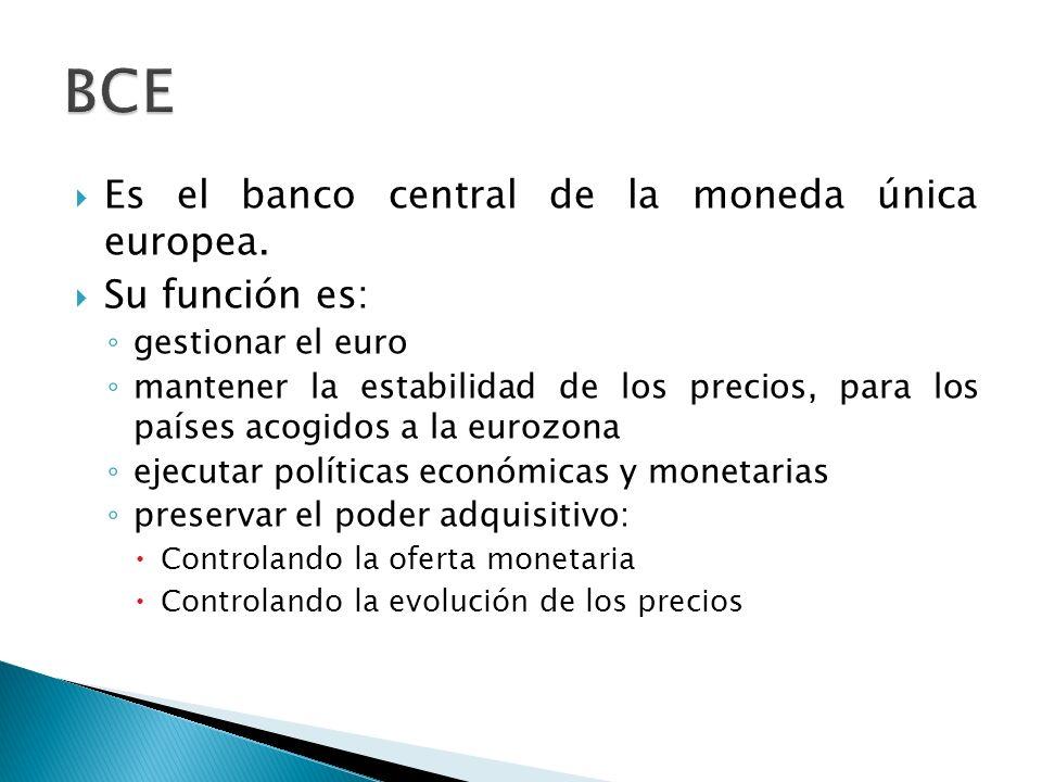 Es el banco central de la moneda única europea.