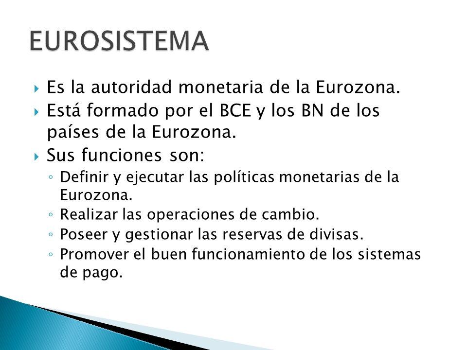 Es la autoridad monetaria de la Eurozona.