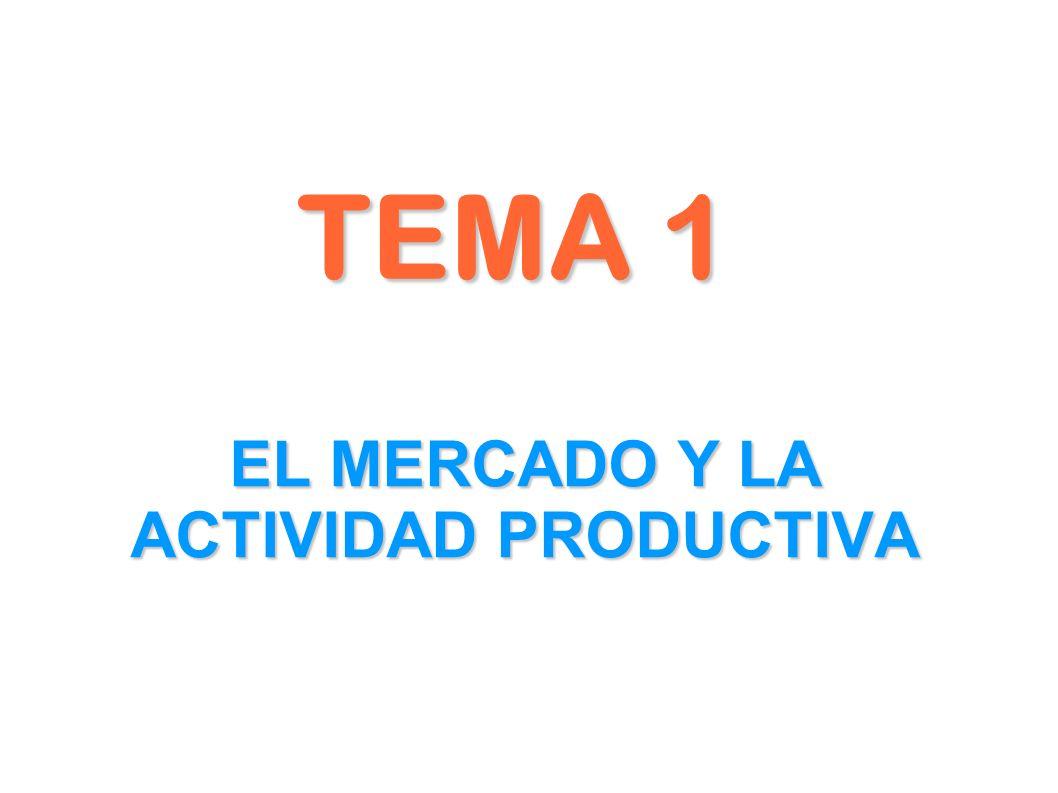 TEMA 1 EL MERCADO Y LA ACTIVIDAD PRODUCTIVA