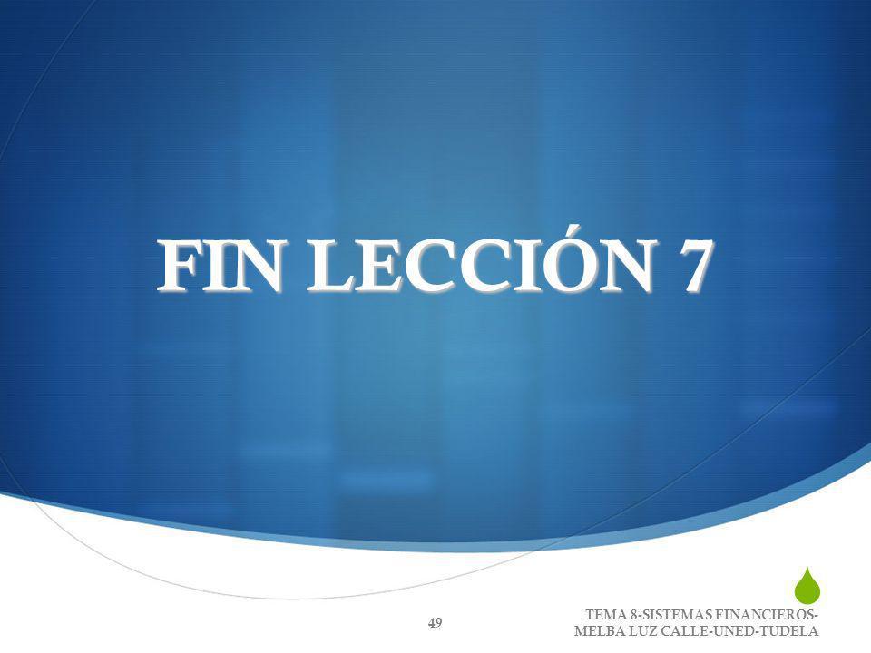 FIN LECCIÓN 7 TEMA 8-SISTEMAS FINANCIEROS- MELBA LUZ CALLE-UNED-TUDELA 49