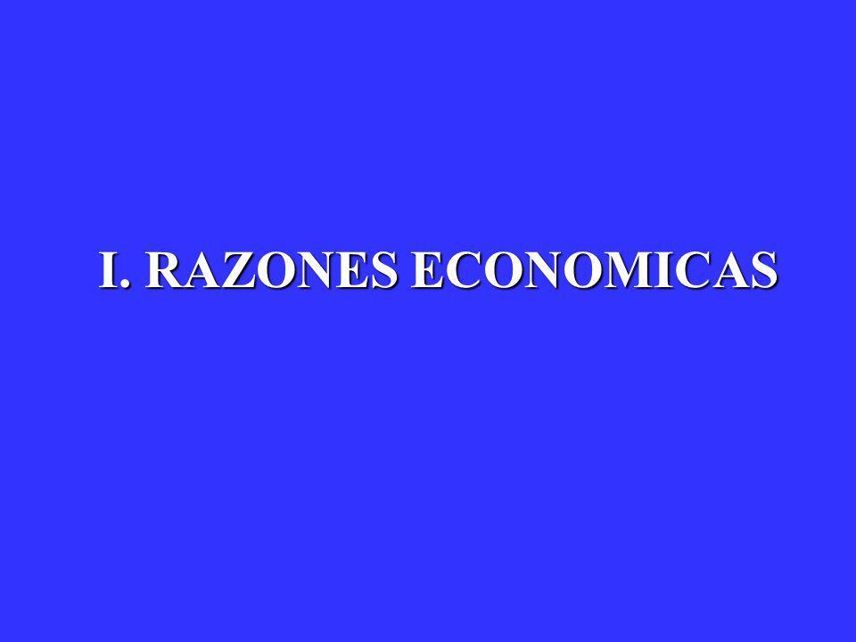 I. RAZONES ECONOMICAS