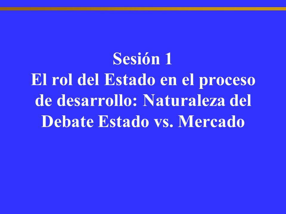 Sesión 1 El rol del Estado en el proceso de desarrollo: Naturaleza del Debate Estado vs. Mercado