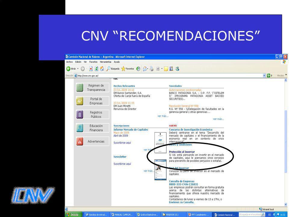 25 CNV RECOMENDACIONES