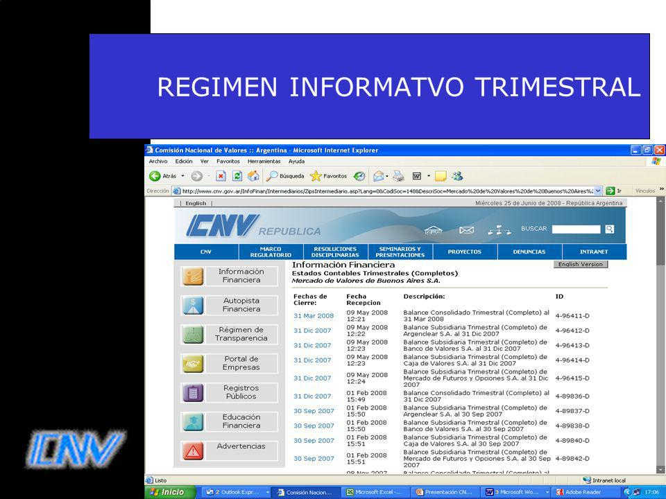 43 REGIMEN INFORMATVO TRIMESTRAL