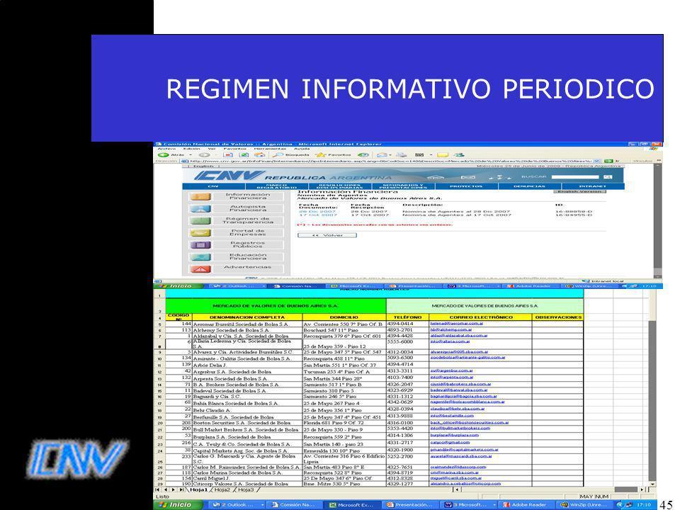 45 REGIMEN INFORMATIVO PERIODICO