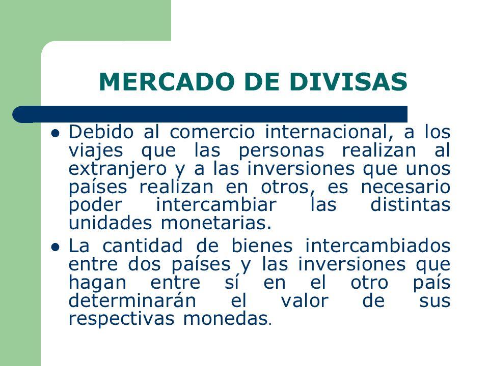 SISTEMA TIPO DE CAMBIO La cotización de una moneda en términos de otra moneda es el tipo de cambio, es el precio de una unidad de moneda extranjera expresado en términos de moneda nacional.