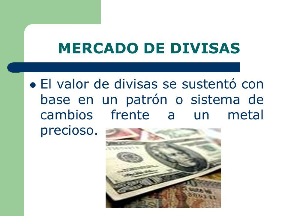 ORIGEN DE LA OFERTA DE DIVISAS Se origina en las transacciones activas o créditos de la balanza de pagos como: – Exportaciones – Ingresos sobre inversiones – Donaciones – Remesas recibidas por residentes – Importación de capital no monetario