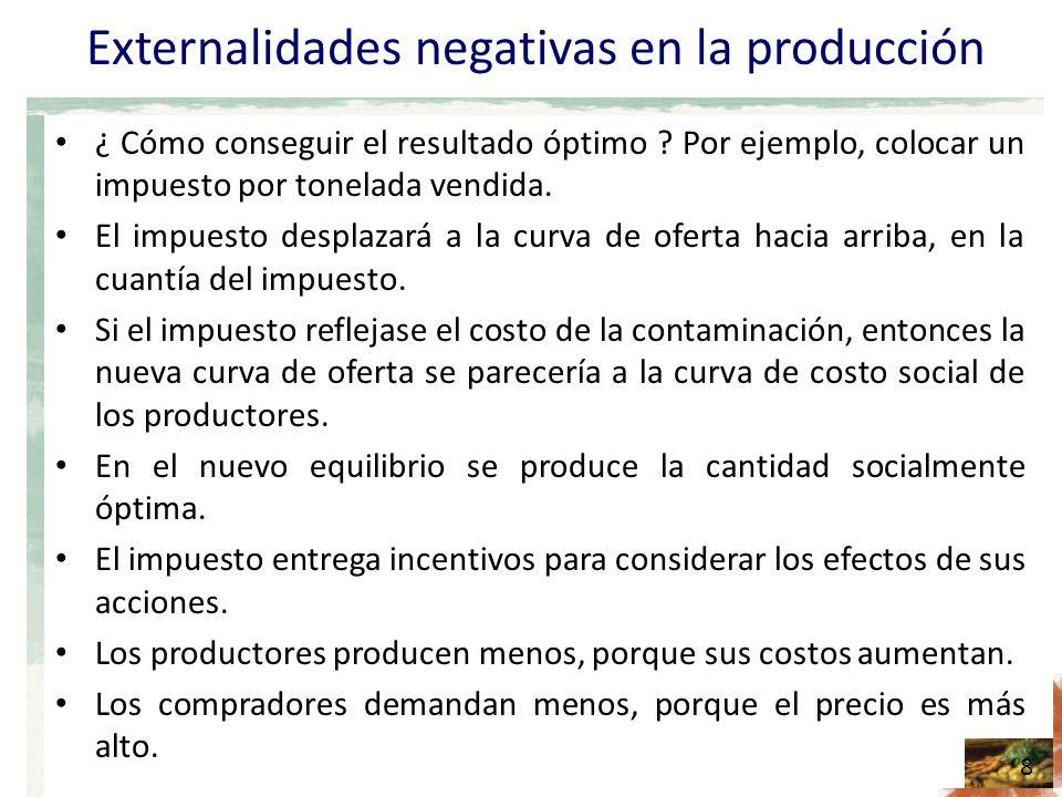 Externalidades negativas en la producción ¿ Cómo conseguir el resultado óptimo .