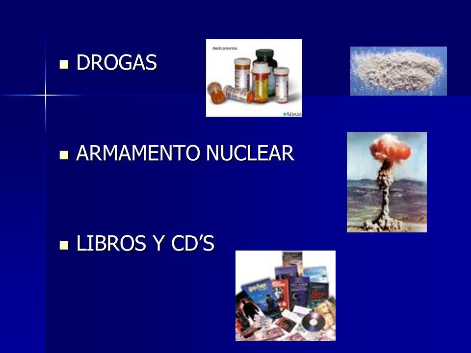 DROGAS DROGAS ARMAMENTO NUCLEAR ARMAMENTO NUCLEAR LIBROS Y CDS LIBROS Y CDS