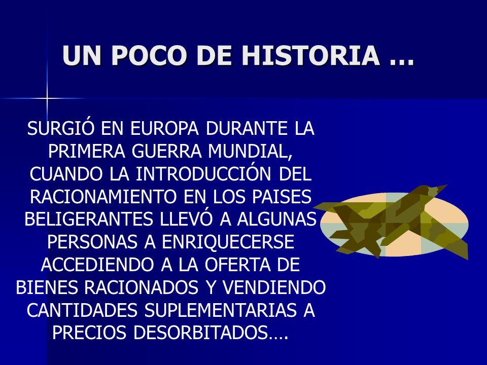 UN POCO DE HISTORIA … SURGIÓ EN EUROPA DURANTE LA PRIMERA GUERRA MUNDIAL, CUANDO LA INTRODUCCIÓN DEL RACIONAMIENTO EN LOS PAISES BELIGERANTES LLEVÓ A