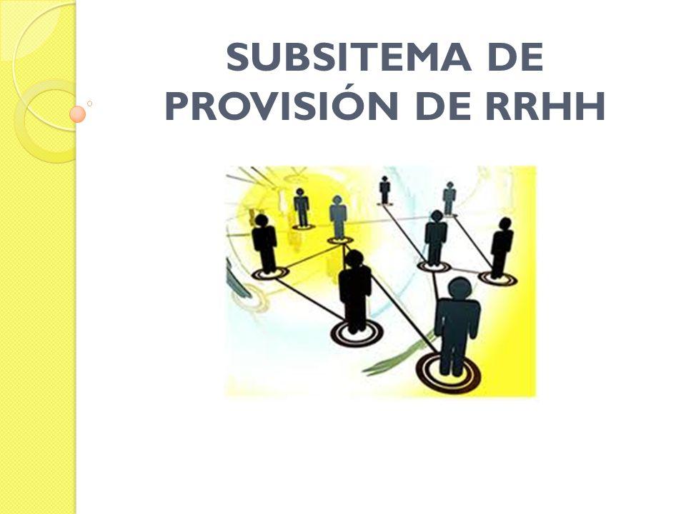 SUBSITEMA DE PROVISIÓN DE RRHH