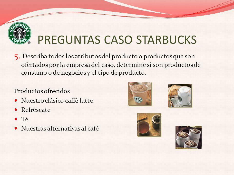 5. Describa todos los atributos del producto o productos que son ofertados por la empresa del caso, determine si son productos de consumo o de negocio