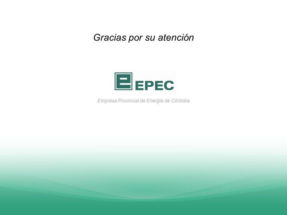 Empresa Provincial de Energía de Córdoba Gracias por su atención