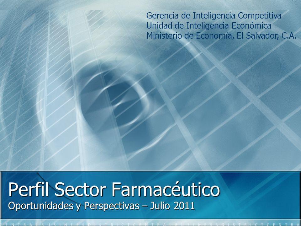 Perfil Sector Farmacéutico Oportunidades y Perspectivas – Julio 2011 Gerencia de Inteligencia Competitiva Unidad de Inteligencia Económica Ministerio