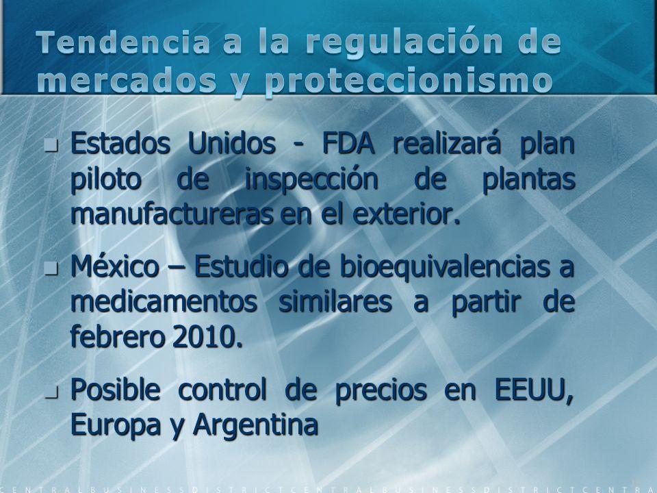 Estados Unidos - FDA realizará plan piloto de inspección de plantas manufactureras en el exterior. Estados Unidos - FDA realizará plan piloto de inspe
